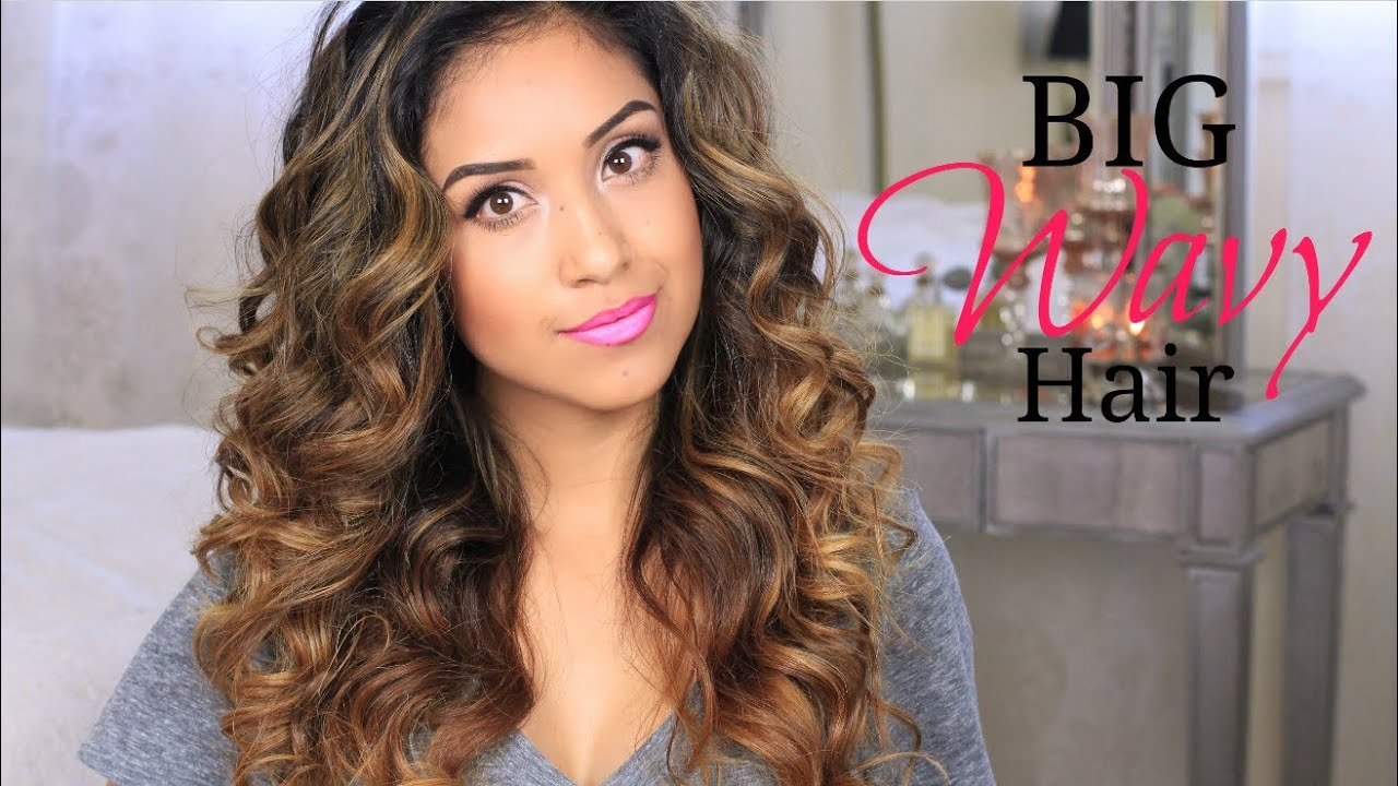 Big Wavy Hair Tutorial Give A Way Youtube