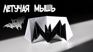 Оригами из бумаги - Летучая мышь | Движущиеся оригами | 3d открытка