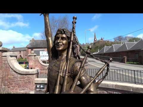 Bon Scott Statue in Kirriemuir Scotland