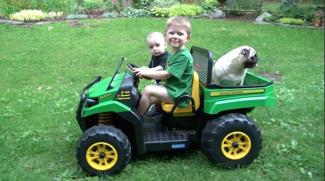 Boy On Tractor : Little boy toddler love john deere tractors youtube