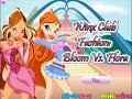 Winx Club Fashion  Bloom Vs  Flora   Dressup Best Baby Games For Children