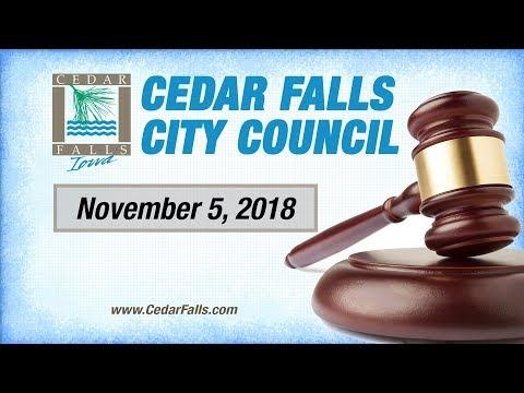 Cedar Falls City Council _ November 5, 2018 Part 1
