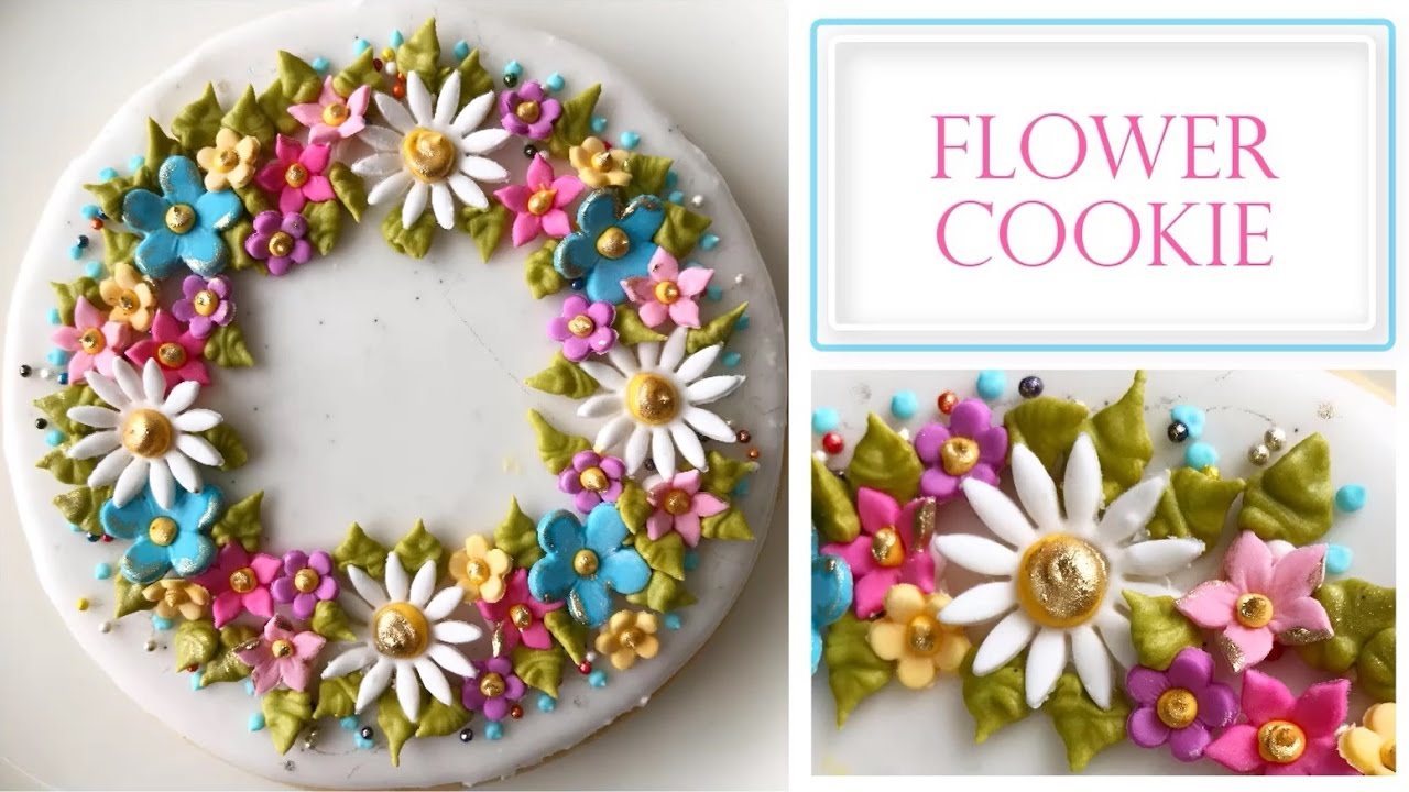 how to make flower cookies
