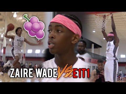"D-WADE Son Zaire DROPPIN' DIMES Vs E1T1 in DOUBLE OVERTIME! ""HeadBand Z"" Leads Wade Elite!"