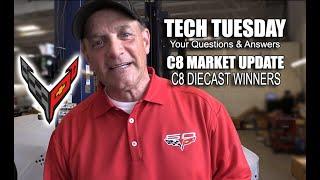 QUICK C8 MARKET UPDATE   CORVETTE TECH TUESDAY QUESTIONS & DIECAST WINNERS