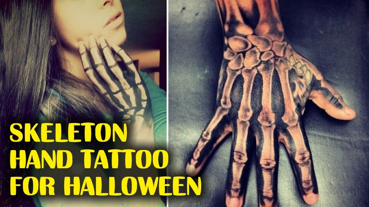 Skeleton Hand Tattoos For Halloween