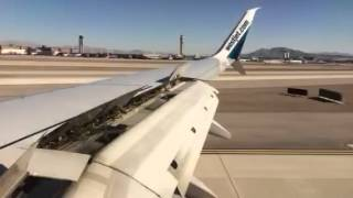 Plan landing at Las Vegas airport in time lapse