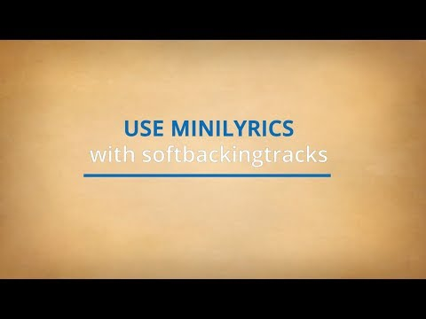 MINILYRICS With SOFTBACKINGTRACKS - Install, Use, Settings