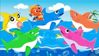 Baby Shark & Dragon Family | Animal Songs Dance |  Nursery Rhymes Songs for Kids