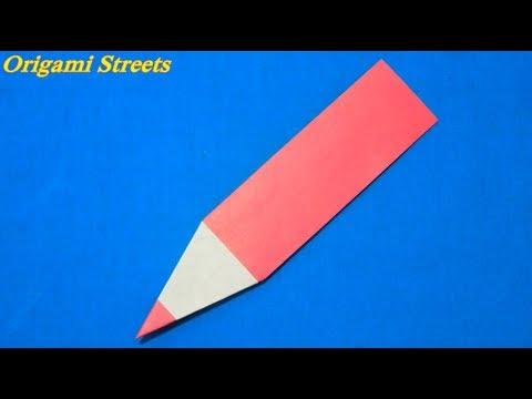 Оригами как сделать карандаш