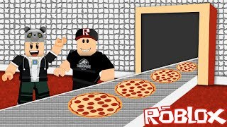 Who's going to do it the fastest? We built a pizza factory! - Roblox Pizza Tycoon 2 PLAYER with Panda!