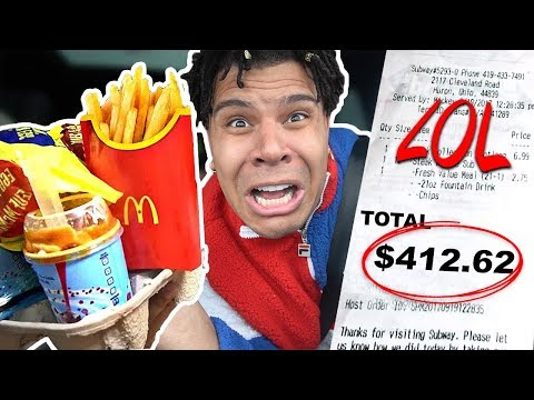 Letting The Person BEHIND Me DECIDE What I Eat for 24 HOURS!! (24 HOUR Food Challenge)