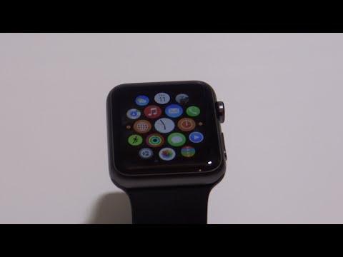 cfb4f36d3 فتح علبة ساعة ابل ونظرة سريعة Unboxing Apple Watch Space grey Sport ...