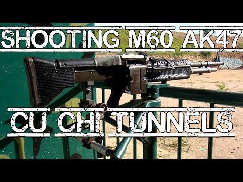 Shooting M60 & AK47 at Cu Chi Tunnels
