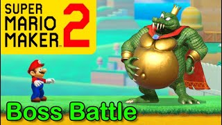 Mario Maker 2 - How to make a KING K. ROOL boss battle (Mario Maker Boss ideas)(DK Bosses!)