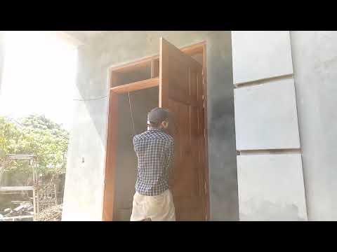 Install Largest Wooden Main Door - Woodworking Technology Build Main Door, Woodworking DIY