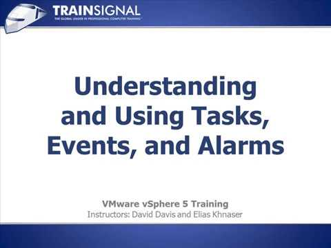 Understanding & Using Tasks, Events, and Alarms | VMWORLD
