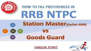 RRB NTPC ASM vs GOODS GUARD | How to Fill RRB Fresh Preferences | Medical Standards