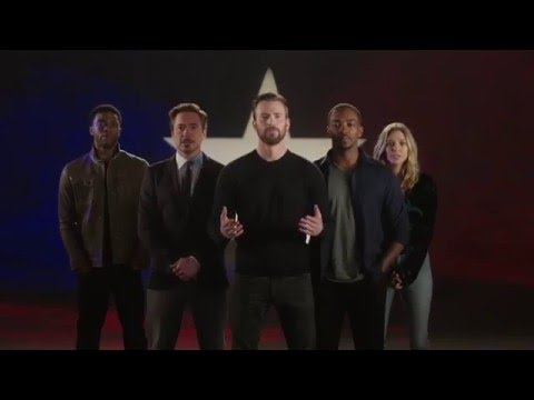 Captain America: Civil War: Chris Evans, Robert Downey Jr. & Cast Sing Truth is Marching