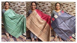 Tussar and tussar Ghicha sarees- WhatsApp to order 9074244276