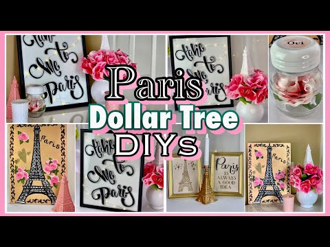 Paris Decor Ideas   Dollar Tree DIYs
