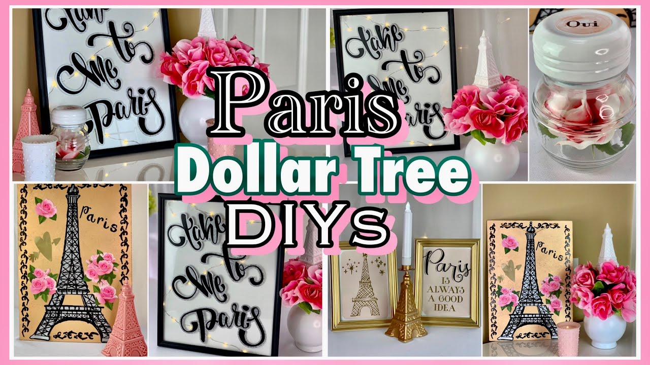 Paris Decor Ideas Dollar Tree Diys Youtube