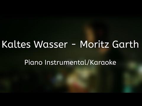 Kaltes Wasser - Moritz Garth | Piano Instrumental/Karaoke (+Songtext) || MJMusic