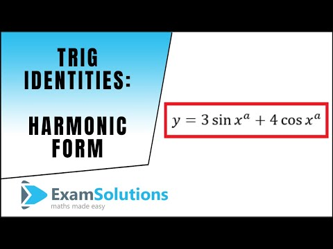 trig identities harmonic form max and min values part 1
