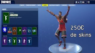 PRESENTATION OF MES SKINS FORTNITE ON MY REAL COMPTE (250 euros of skins) -my locker