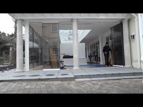 Large Surrey house Spectacular Frameless Doors