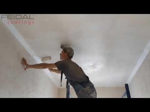 Облака на потолке из обычной краски, как сделать?