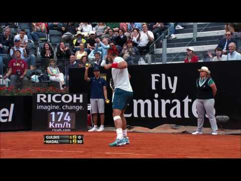 Nadal Claws Back In 2013 Rome Classic Moment