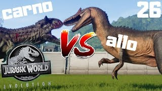 Jurassic World Evolution PL #26 - CARNOTAURUS vs ALLOSAURUS   gameplay po polsku