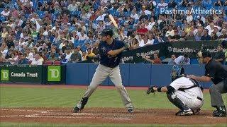 Joe Mauer Slow Motion Best Baseball Swing in MLB - Hitting Mechanics Video Clip Twins