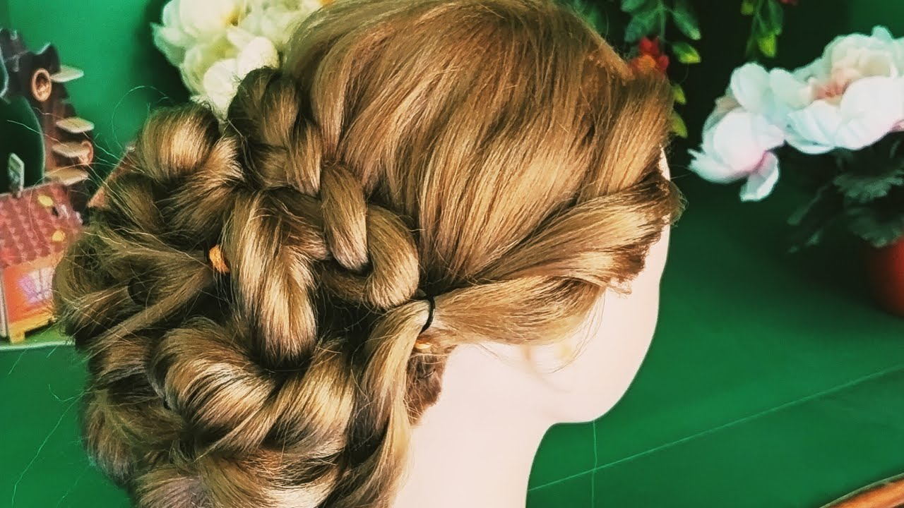 Easy bun hairstyle for wedding | bun hairstyle with saree and gown | Bun hairstyle step by step ...
