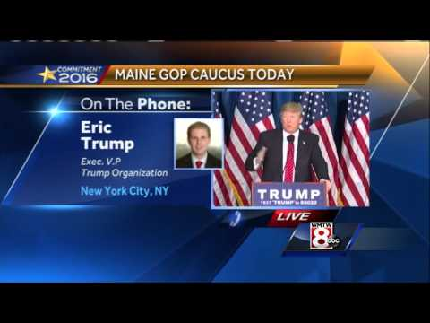 Trump expecting good result in Maine GOP caucus