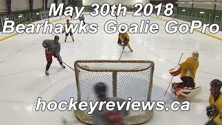 May 30th 2018, 1st Game in CCM Premier 2 Pads Bearhawks Hockey Goalie GoPro
