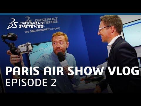 "Paris Air Show 2017 Vlog - Ep. 2 : ""Immersive Technologies and Aero"" - Dassault Systèmes"