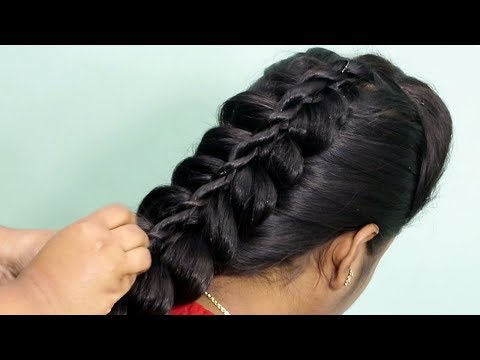 best-braid-hairstyle-with-center-tail-style-||-hairstyles-for-kids-and-girls-2020-||-she-fashions
