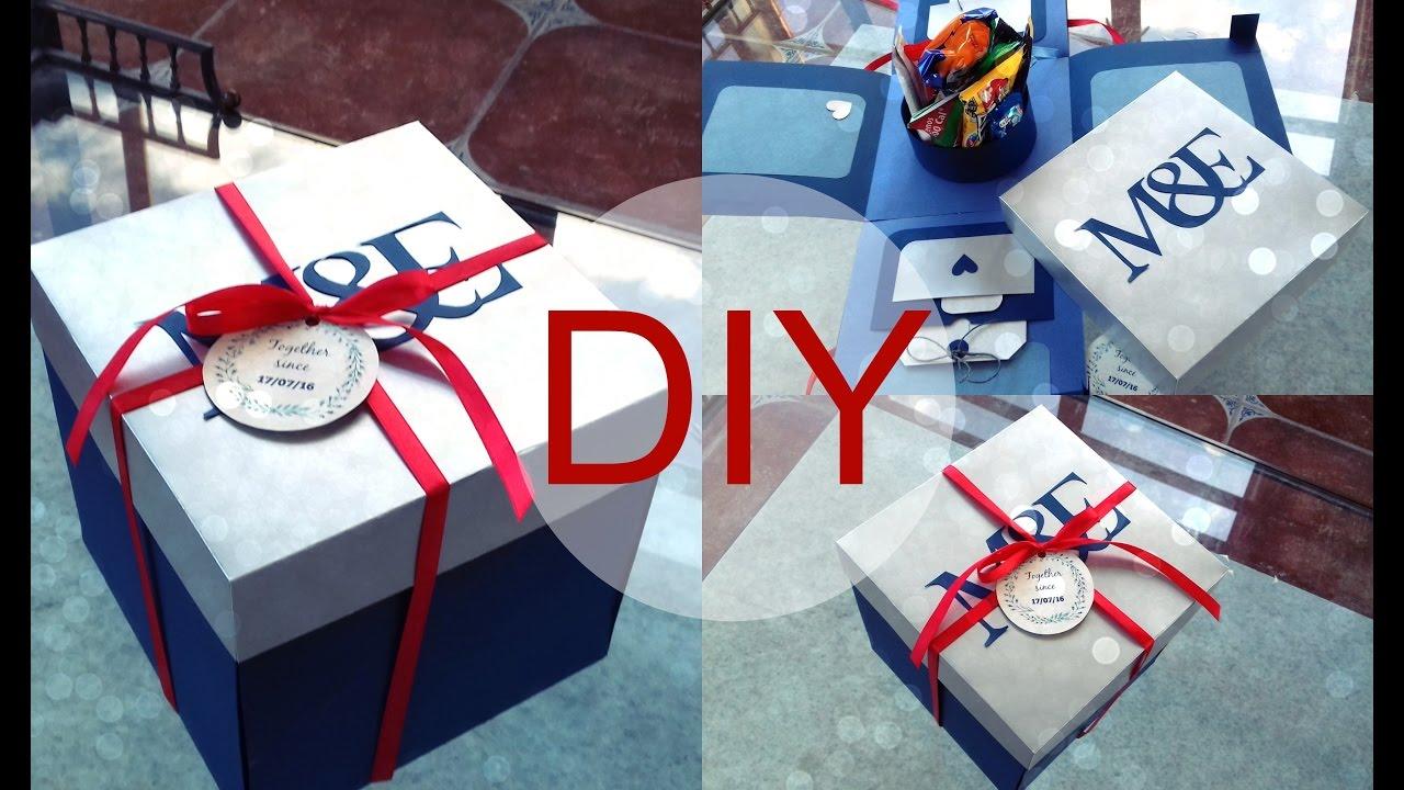 Caja sorpresa para tu novio detalle bonito para regalar for Cajas personalizadas con fotos