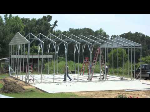 Metal Building Construction In 2 Days Youtube