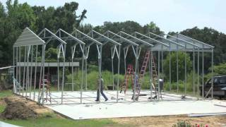 Metal Building Construction In 2 Days