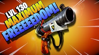 MAXIMUM FREEDOM! | Lvl 130 FREEDOMS HERALD | Fortnite Save the World | Pistol Weapon Gameplay Review