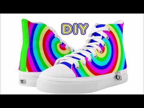 How to Design a SHOE in ZAZZLE - colorful SNEAKERS. 👟 SUBSCRIBE