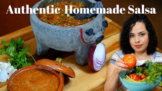 AUTHENTIC MEXICAN SALSA recipe  THE BEST SALSA EVER  RED salsa recipe  AMAZING salsa recipe