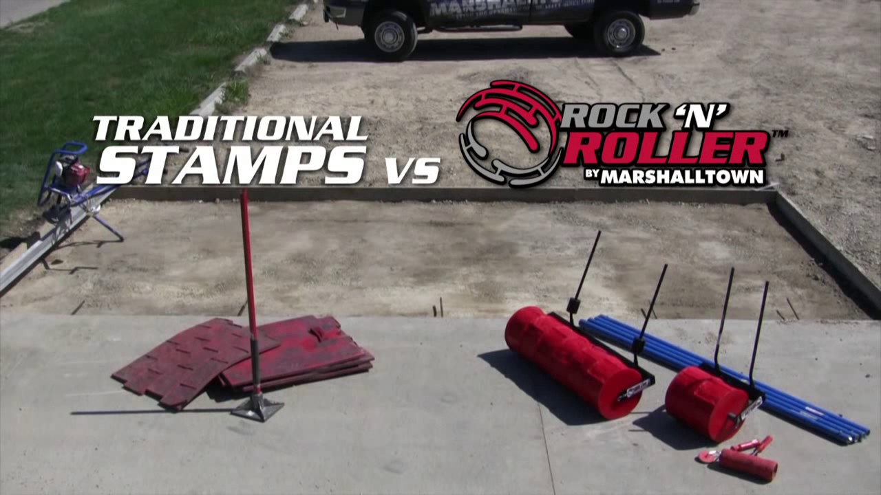 How To Use The Marshalltown Concrete Roller Rock N Roller Youtube
