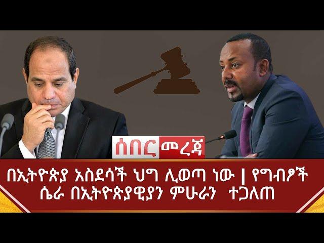 Ethiopia ሰበር መረጃ - በኢትዮጵያ አስደሳች ህግ ሊወጣ ነው   የግብፆች ሴራ ተጋለጠ   የዲያስፖራው ደግነት   Abel Birhanu