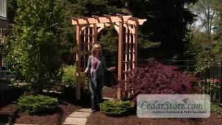 Red Cedar Canterbury Arbor From Cedarstore.com