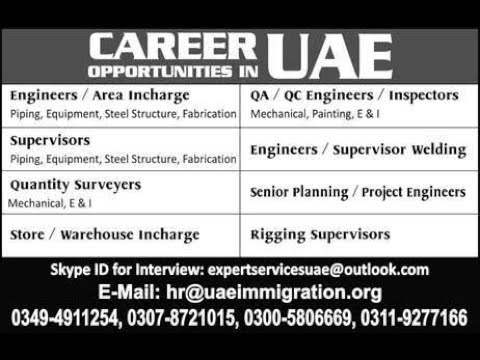 Jobs in Saudi Arabia, UAE & Bahrain, 21 November 2017