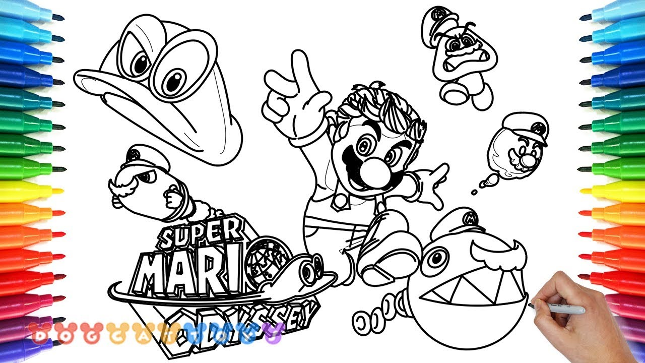 How To Draw Mario Odyssey 26 Drawing Coloring Pages For Kids Youtube